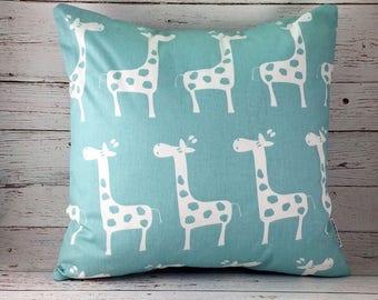 Giraffe, giraffe pillow, giraffe decor, giraffe baby shower, nursery decor, baby shower gift, safari nursery, baby giraffe, cute pillows