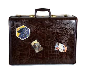 Vintage Samsonite Suitcase - Mid Century Samsonite Suitcase, Retro Samsonite Suitcase, Retro Home Decor, Mid Century Decor