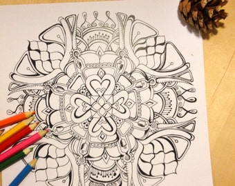 laughing buddha mandala coloring page instant