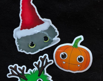 Christmas sticker pack (includes all 3 stickers shown)
