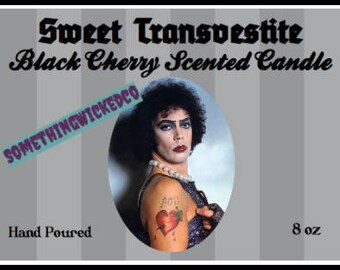 Rocky  Horror Picture Show Frank n' Furter Inspired Candle
