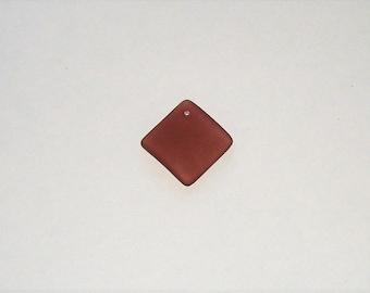 """Cultured Lilac """"Sea Glass""""  Diamond Square Pendant - 18MM"""