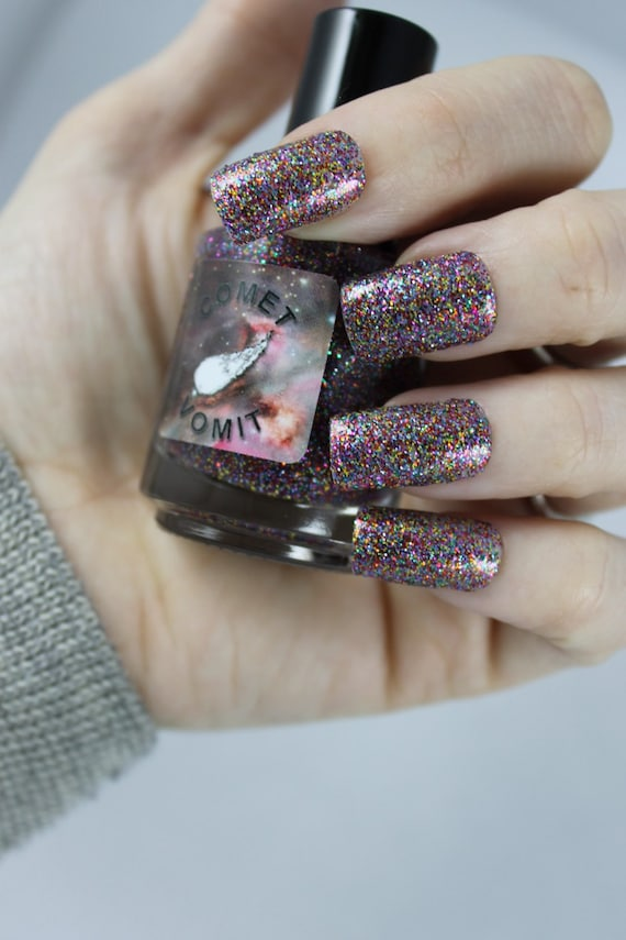 Transporter Accident glitter Nail Polish by Comet Vomit