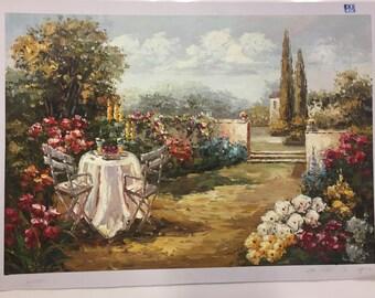 Beautiful Floral Landscape Oil Painting