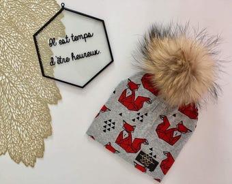 Hailey - Grey Fox cotton Hat