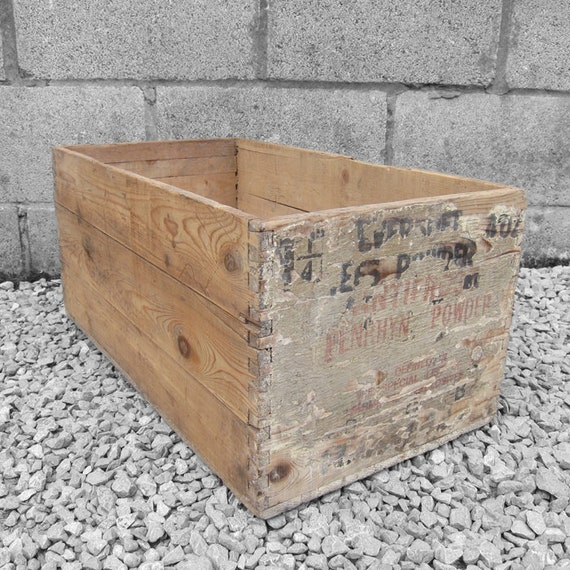 Military Ammo Box Storage Old Rustic Pine Crate