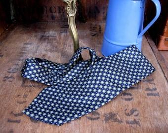 Pierre Cardin Tie, Silk Tie, Silk Necktie, Vintage Tie, Designer Tie, Vintage Silk Tie, Vintage Necktie, Navy Necktie, Vintage Pierre Cardin