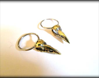 Bird Skull septum,bird skull earring-skull septum-1 pair