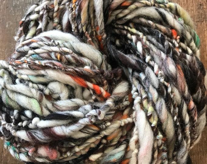 Chrysalis  - handspun bulky yarn, 94 yards, bulky yarn, rustic art yarn, chunky yarn, wool handspun yarn
