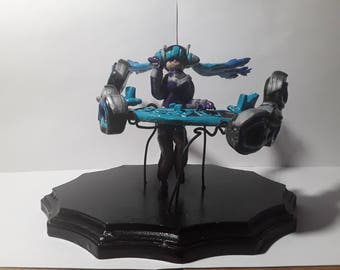 DJ Sona League of Legends Polymer Clay Figure/Statuette