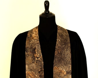 """Clergy Stole, Solid Rock #143, Pastor Stole, Minister Stole, 54"""" Length, Pastor Gift, Vestments"""