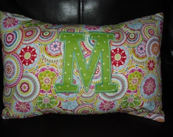 Girly Initial Pillow