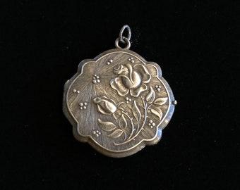 antique rosebud locket