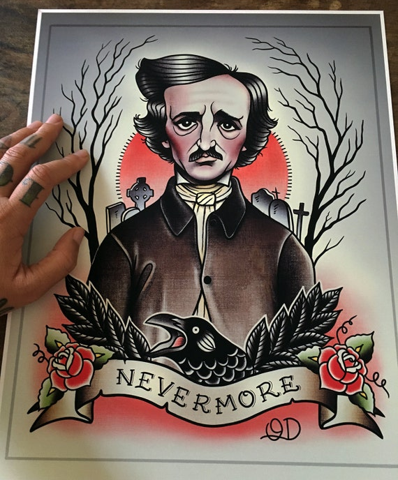 Allan Shope: Edgar Allan Poe Flash Art Print