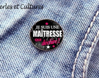 Badges for the teacher gift! -gift idea black rose cabochon