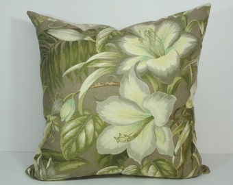 Tommy Bahama Lemoncello Decorative Pillow Cover, Botanical Glow Pillow Cushion Cover, Yellow, Olive Green, 18 x 18, 12 x 20