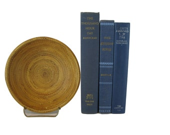 Book Bundle, Blue Decorative Books, Bookshelf Decoration, Vintage Books for Shelf Decor