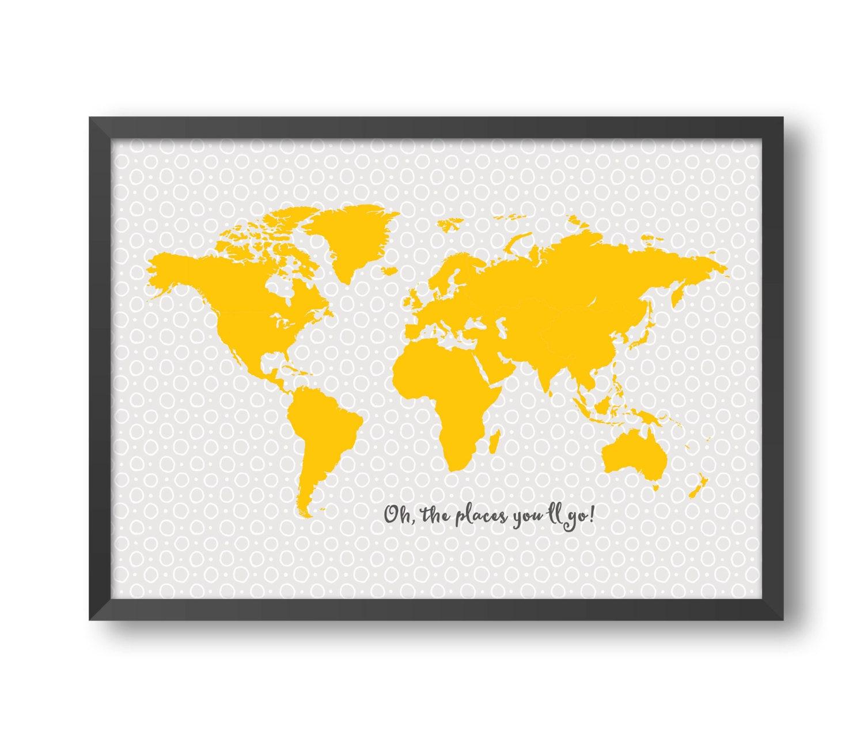 Weltkarte Druck-10 Größe A1 A2 A3 A4 Kinder Weltkarte