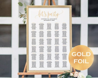 11 sizes gold foil wedding seating chart templateseating 11 sizes gold foil wedding seating chart templateseating chart printable seating board maxwellsz