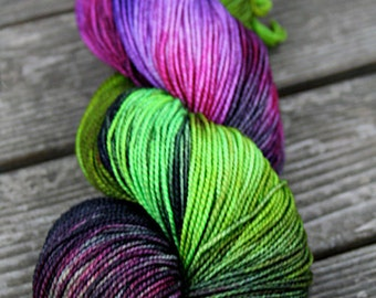 Hand Dyed Merino Sock Yarn- Kettle Dyed - 100g