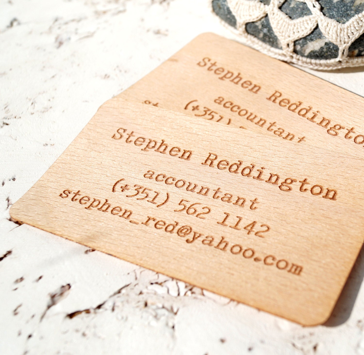 Wooden business cards engraved wooden veneer business cards zoom reheart Gallery