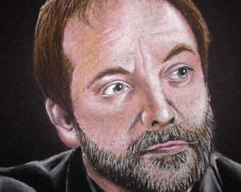 Mounted Crowley print