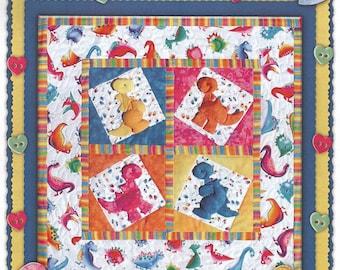 Thimble art Dino-sew-us Pattern