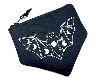 Canvas Bat Pouch, Black Bat Pouch