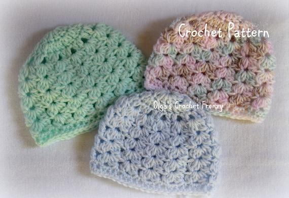 Preemie Baby Hat Crochet Pattern Baby Girls and Baby Boys