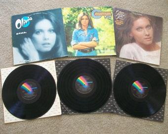 3 Olivia Newton-John LP Albums