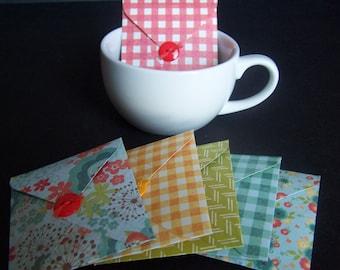 Tea Party Favors SET of 6  - Picnic Party Favors - Tea Envelope Favors - Tea Bag Envelopes - Summer Party Favors - Spring Favors