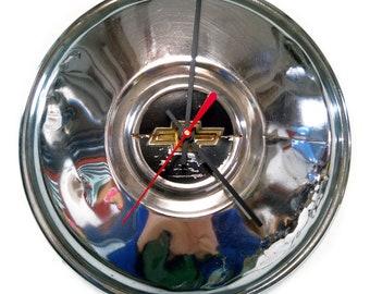 1980 - 1983 Chevy LUV Pickup Truck Hubcap Clock - Chevrolet Bowtie Wall Clock - Man Cave Decor - 1981 1982