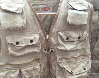 Vintage Fly Fishing Vest Size Large