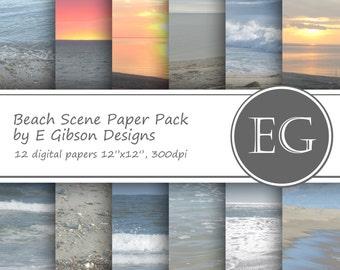 Beach Scene Paper Pack