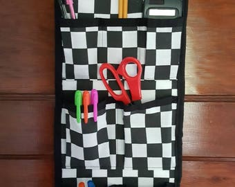 Locker organizer,  hanging organizer, wall storage, pocket organizer, school storage, school organizer, locker storage