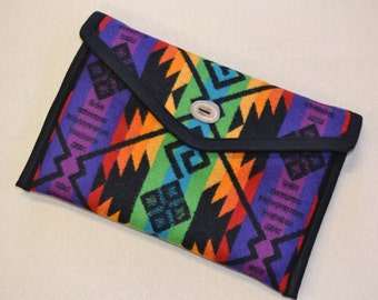 """Padded 11"""" Macbook AIR Laptop Cover case sleeve--colorful Native American Coyote Butte Wool from Oregon - padded protective mac book case"""