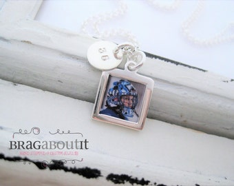 Photo Charm . Sterling Silver Necklace . Hand Stamped Jewelry . Capture Collection . Brag About It