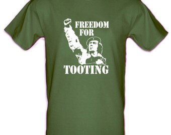 CITIZEN SMITH Che Guevara style Cult tv Wolfie Smith Freedom for Tooting Gildan Heavy Cotton t-shirt Small - XXL