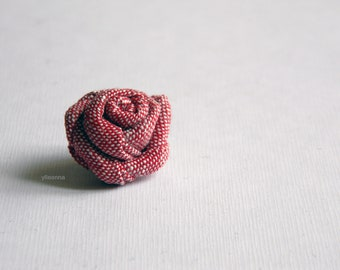 Red lapel pin. Linen lapel flower. Men boutonniere. Men accessories. Rose boutonniere. 4th anniversary gift. Red boutonniere.