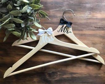 Mr and Mrs Coat Hangers | Bride | Groom | Mr and Mrs | Wedding coat hanger | Wedding gift