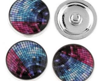 Chunk glass cabochon of 20mm, disco ball