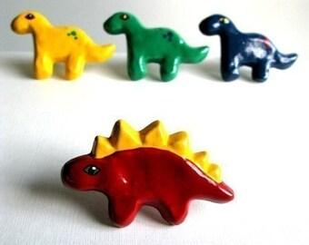 Red Stegosaurus Knob