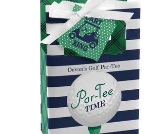 Golf Favor Boxes - Par- Tee Time- Golf - Birthday or Retirement Party Favor - Set of 12