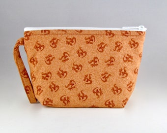 Rust OMantra Makeup Bag - Accessory - Cosmetic Bag - Pouch - Toiletry Bag - Gift