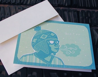 Brrr : Winter Letterpress card