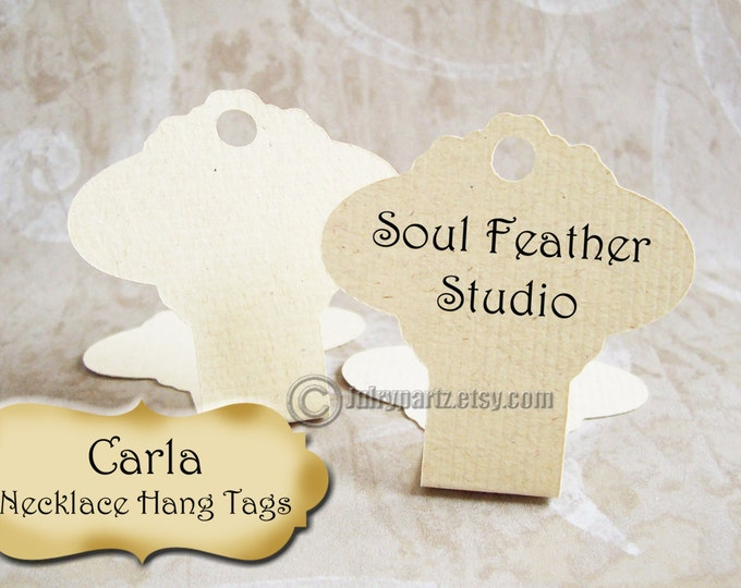 64•CARLA•Hang Tags •2x3•Necklace Tags•Necklace Display•Hanging Necklace Display•Bracelet Tag•Bracelet Holder