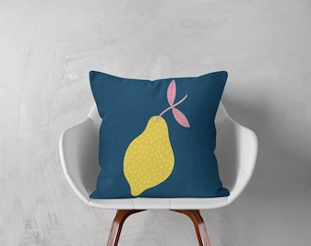 Lemon Cushion - Nursery Cushion Cover - Throw Pillow - Nursery Decor - Soft Furnishings - Cushion Covers - Housewarming Gift - Home Decor
