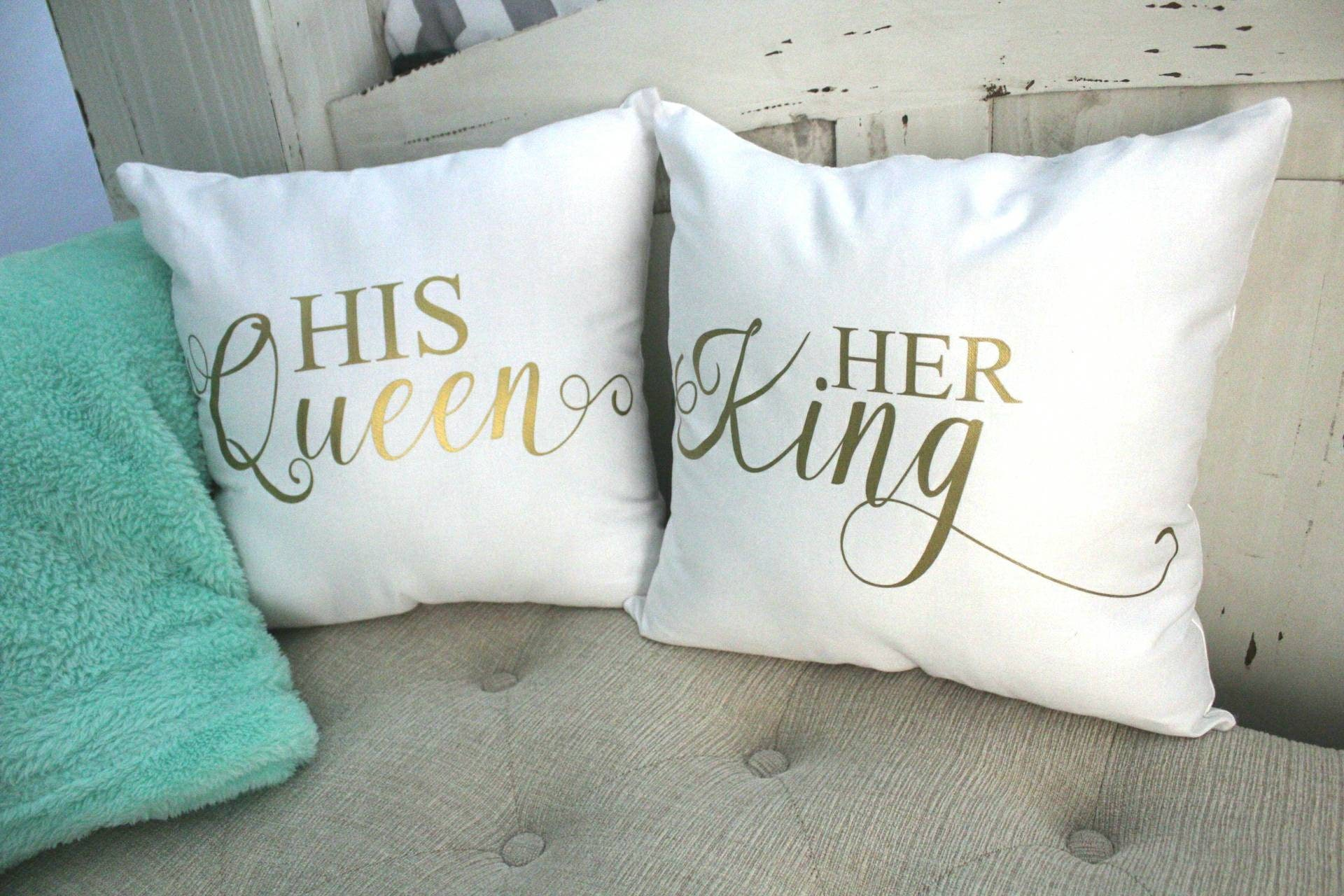 🔎zoom. king and queen throw pillows his and hers decorative pillows