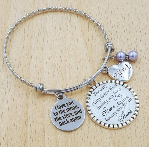 Aunt Bracelet Sister Bracelet Gift for Auntie Gifts for Aunts Aunt Gift Aunt Jewelry Sister Gift Gifts for Sister Sister Jewelry