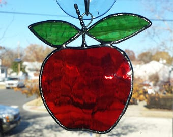 Stained glass apple, fruit